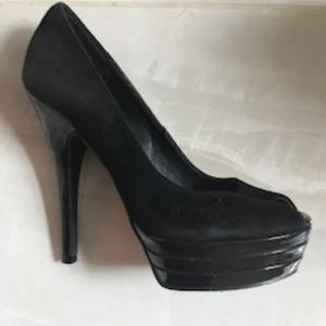 Shoes - 3 Pairs Amazing/Sexy Platform heel black beige Sz6